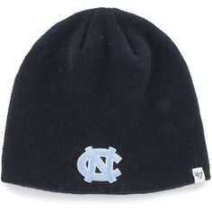 '47 University of North Carolina Uncuffed Knit Beanie (Navy, Size One Size) - NCAA Licensed Product, NCAA Men's Caps at Academy Sports