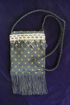 SmartBag Black/Gold Small Fleur de Lis by SplendiferousFiber, $20.00
