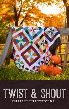 Stitch up a smash hit of a quilt with the Twist and Shout pattern! You'll be dancing all the way to your sewing room while creating these lovely pinwheel blocks! Watch the free quilt tutorial by clicking the link below! Quilting For Beginners, Quilting Tips, Quilting Tutorials, Quilting Projects, Quilting Designs, Missouri Star Quilt Tutorials, Pinwheel Quilt, Twist And Shout, Cute Quilts