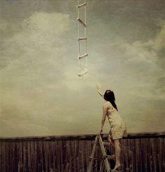 Heaven can't be so far away, I'll climb up the ladder and find a place to stay...