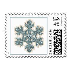 Glittery Snowflake Postage