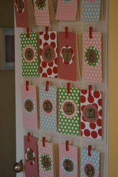 Seedling to Sprout: Homemade Toddler Advent Calendar: A No Sew Project