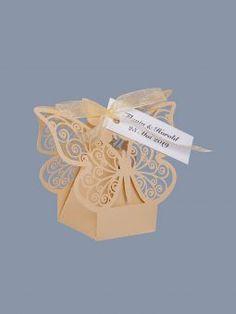 Marturii nunta cutiute fluture ivory Place Cards, Place Card Holders