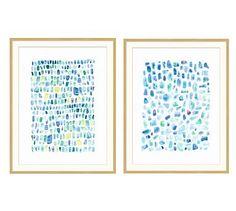 Seaglass Prints Wall Art #potterybarn