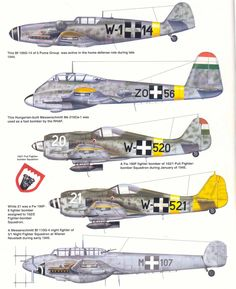 Aircraft of the Royal Hungarian Air Force Plate 6 Ww2 Aircraft, Fighter Aircraft, Military Aircraft, Fighter Jets, Luftwaffe, Focke Wulf 190, German Soldiers Ww2, Ww2 Planes, Home Defense