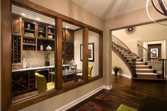 McMillin Homes - Copper Ridge - traditional - wine cellar - austin - Mary DeWalt Design Group Beautiful Interiors, Beautiful Homes, House Beautiful, Model Homes, Luxury Interior, My Dream Home, Custom Homes, Home Kitchens, New Homes