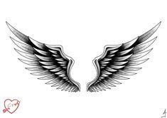 Engel Tattoo Designs mit Bedeutungen - 28 Ideen & Vorlagen - List of the most beautiful tattoo models Black Tattoos, Body Art Tattoos, Small Tattoos, Sleeve Tattoos, Tattoos For Guys, Cool Tattoos, Wing Tattoo Designs, Angel Tattoo Designs, Tattoo Designs And Meanings