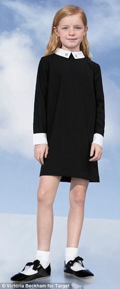 41d29c55849 A dress for Easter - Girls' Black Collared Dress XS - Victoria Beckham for  Easter. Her new line is in Target.