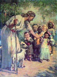 """Let the little children come unto me. """"Whoever welcomes one of these little children in my name welcomes me; and whoever welcomes me does not welcome me but the one who sent me."""" Mark 9:37"""