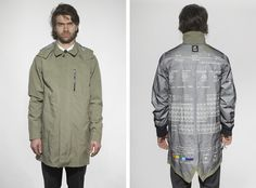 Nike Trenchcoat with periodic table http://www.drlima.net
