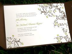 Vintage Tree Wedding Invitation  Custom Printable by pompdesigns, $35.00