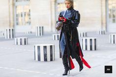 Streetstyle of Yoon Ambush wearing Louis Vuitton and Supreme Collaboration during Paris Fashion Week Fall Winter 2017