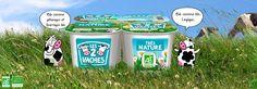 Le Très Nature.   Le yaourt bio Les 2 Vaches Très Nature est une recette brassée avec du bon lait entier bio, du lait écrémé bio en poudre et des ferments lactiques. http://www.les2vaches.com/nos-bons-produits/les-natures/tres-nature