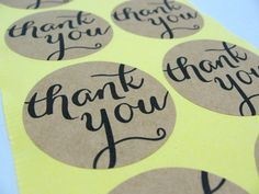 Round Thank You Stickers 1.5 Circle Stickers Thank by chickydoddle, $1.75