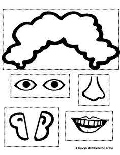 """This activity about the missing parts on the face is an exciting and attractive activity for young children.   These activity sheets are a good companion to """"La Cara"""" (a freebie on my store.)   Once the children have learned the parts of the face well, they will be ready for this next activity where the child will say in Spanish the parts of the face that's missing. With the help of the teacher or parent the child cuts out the part that's missing and pastes it on the face."""