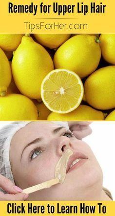 Remedy for Upper Lip Hair - Naturally bleaches your upper lip hair!