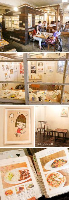 A to Z Cafe- Yoshitomo Nara cafe in Aoyama, Tokyo