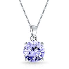 Simulated Lavender Alexandrite CZ June Birthstone Pendant Silver (390 MXN) ❤ liked on Polyvore featuring jewelry, necklaces, accessories, purple, birthstones, cz pendant necklace, silver necklace, cubic zirconia pendant necklace, lavender necklace and birthstone necklace