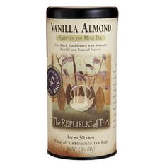 Vanilla Almond Black Tea Bags  -  republic of tea.  my favorite, also available in decaf.  good, want!     lj