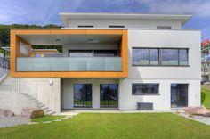 Einfamilienhaus in Holzbau erstellt.