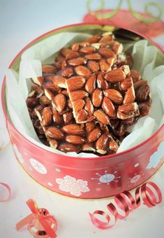 Sicilian Almond Torrone is typically prepared at Christmas time. This simple two ingredient treat makes the perfect edible gift! I won't lie to you, I have not been eating Sicilian Almond Torrone all my life. Italian Christmas, Christmas Baking, Christmas Recipes, Christmas Bark, Christmas Cookies, Christmas Time, Christmas Deserts, Christmas 2017, Holiday Baking