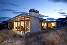 Clutha River House, Albert Town » Archipro GK- like roof angles and U shape idea