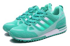 Spring and Summer style Adidas ZX750 Womens Green Running Shoes. The girls would love these