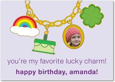 Lucky Charms - St Patricks Day Cards in Sheer Lilac | Magnolia Press