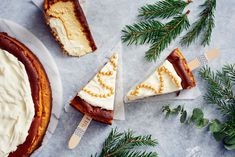 Paistettu piparijuustokakku Treat Yourself, Treats, Baking, Ethnic Recipes, Food, Dinner Ideas, Cupcakes, Christmas, Sweet Like Candy