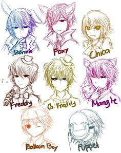 Five Nights at Freddy's 2 as humans