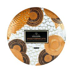 Voluspa - Spiced Pumpkin Latte 3 Wick Decorative Tin Candle with Lid 3 Wick Candles, Candle Jars, Pumpkin Spice, Spiced Pumpkin, Burning Candle, Latte, Spices, Wax, Nordstrom