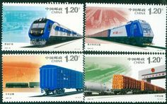 Postage Stamps Harmonious Railway Construction Transportation