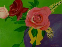 Floral still life acrylic painting original art by faithcolors