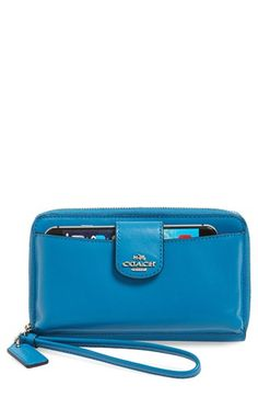 COACH Leather Phone Wallet available at #Nordstrom