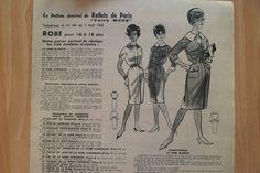 Patron Vintage Robe 16 18 ANS T 38 | eBay