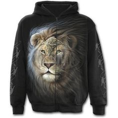 Mens MAJESTIC Full Zip Hoody Black Shop Online From Spiral Direct, Gothic Clothing, UK