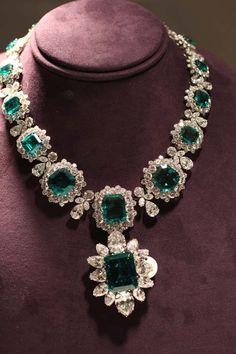 Bulgari Emerald and Diamond Necklace - Elizabeth Taylor...