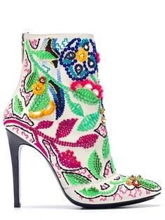 Barbara Bui Spring/Summer 2013 Shoes  Color everywhere....love these shorties must add to the boot collect or my art collection