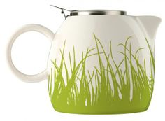 Tea Forte Pugg Ceramic Teapot – Spring Grass Perfect for two cups of tea. You can use either loose leaf tea or teabags. Capacity Stainless Steel Infuser – fine mesh for loose tea. Stainless Steel Lid – clips on for ease of use. Perfect Cup Of Tea, Coffee Accessories, Tea Gifts, Brewing Tea, Tea Art, Ceramic Teapots, Kitchen Gifts, Kitchen Things, Kitchen Stuff