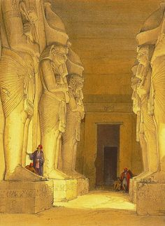 """David Roberts """"Rock Temple of Gerf Hussein"""", Egypt."""