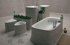 Stick and Stone Washrooms : Islet Bathroom