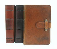 Special Edition Leather One Year Diary in Antique Tan with Free Monogramming