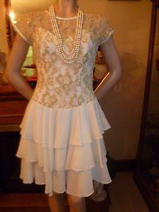 Modern Flapper Dress | 1920s-DRESS-1930s-FLAPPER-Modern-Millie-ART-DECO-DROP-Waist-Wedding ...