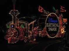 Disney Electric Lights Parade....the MUSIC I can still hear in my head...she and I went to THE ELECTRIC LIGHT PARADE MANY TIMES!!!