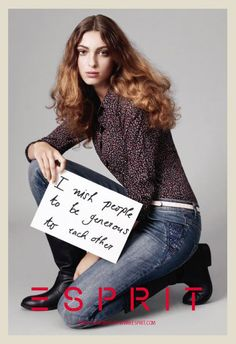 Esprit Make Your Wish Christmas 2011-2012 Campaign: Designer Denim Jeans Fashion: Season Collections, Lookbooks and Linesheets