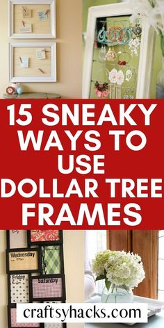15 DIY Dollar Store Frame Craft Ideas 15 DIY Dollar Store Frame Craft Ideas,Home Love dollar tree crafts? Well, did you know you can make a bunch of wonderful dollar tree decorations just from. 15 Dollar Store, Dollar Store Hacks, Dollar Store Crafts, Dollar Stores, Dollar Dollar, Dollar Store Mirror, Dollar Store Christmas, Diy Crafts Dollar Tree, Dollar Tree Frames