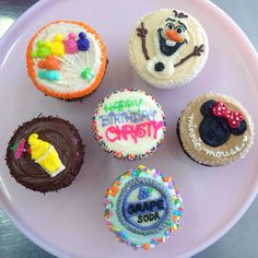 Disney cupcakes decorated by Stacey Chase @ Sibby's Cupcakery, San Mateo, CA