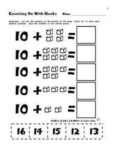 Kindergarten Math Common Core Cut-and-Glue Workbook - Teacher Tam - TeachersPayTeachers.com