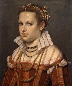 Giovan Battista Moroni, Ritratto di Isotta Brembati Grumelli, Bergamo, Accademia Carrara, 1550-1555