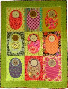 Baby Babushka quilt pattern at Etsy, designed by Carrie Unick